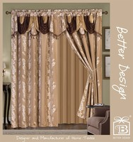 Luxury Classical Hotel Window Curtain Design With Dubai Style