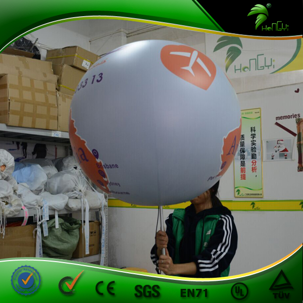 Walking Advertising Inflatable Light Backpack Balloon , Inflatable World Map Lighting Balloon