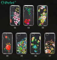 Custom UV Printing Flower TPU mobile phone case for iPhone