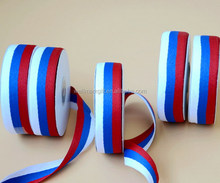 Wholesale Red White Blue Woven Fabric Medal Ribbon