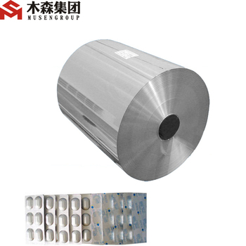 aluminum foil for blister pharmaceutical use/cold forming