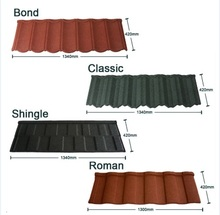 best metal color stone coated steel villa shingle roof tiles types of roof covering