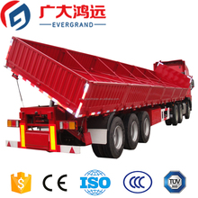 2 axles 3 axles 50 tons platform side dump semi trailer for sale