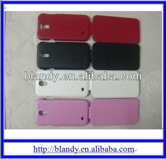 Newest hot selling Flip Carbon Finalize design PU Leather cover Case for samsung galaxy s4 i9500