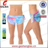 New style girls beach shorts custom printing sexy girls hot shorts pants