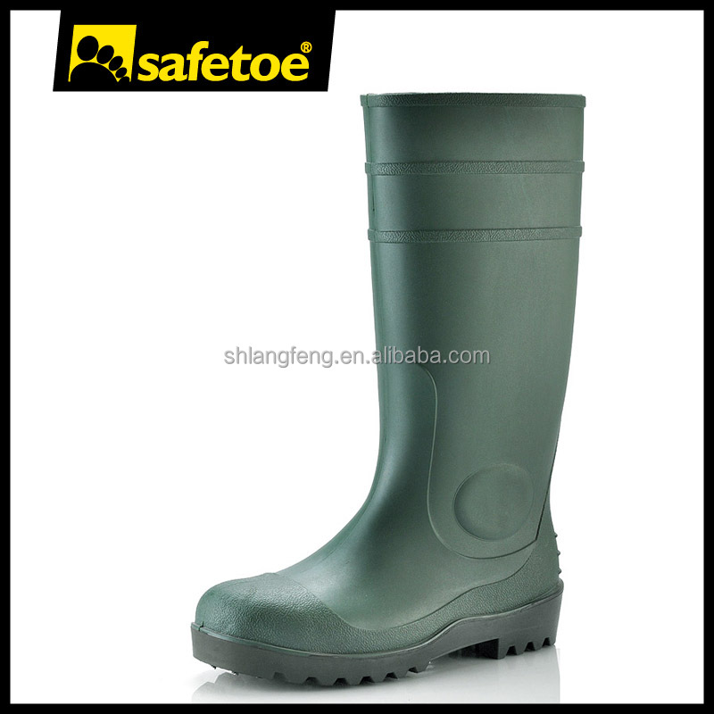 High heel custom rain boots for men W-6037