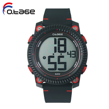 Alibaba Express western men's watches big number Digital oem wrist watch