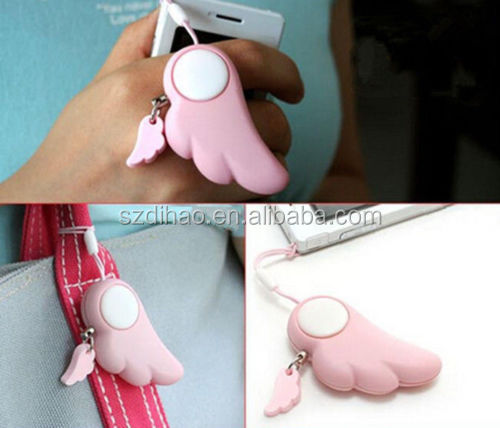 DIHAO Egg Shape Personal Safety Minder Anti-Rob Alarm angel wing anti-rape device personal alarm
