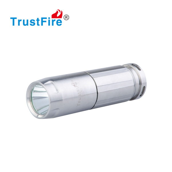 Mini keychain flashlight use Cree XM-L 2 leds, small torch light with CE,FCC certification