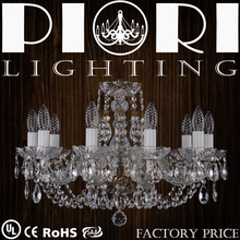 Piori 10 Lights Bohemia Handmad Crystal Chandelier Wholesale Lamparas