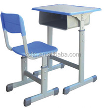 Modern school furniture plastic and wooden used school desk chair