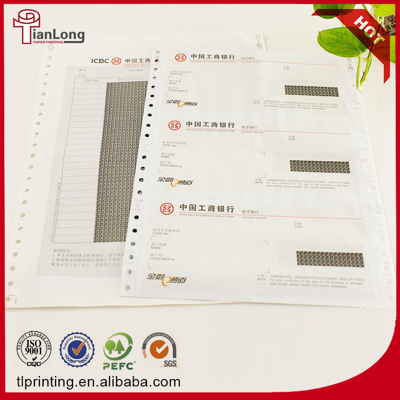 Customized 3-ply salary envelop printing paper