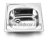 Topmount Single Bowl Kitchen Sink with Faucet Hole