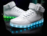 Unisex Women Men Lovers USB Rechargeable LED Lights Sports Simulation Shoes For Running