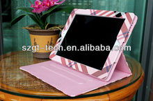 Fashion portable cheapest leather case for ipad 3