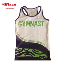 Hotsale women's sublimated sports gym racerback singlets