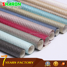 Sharon factory high quality PU artificial leather with best price