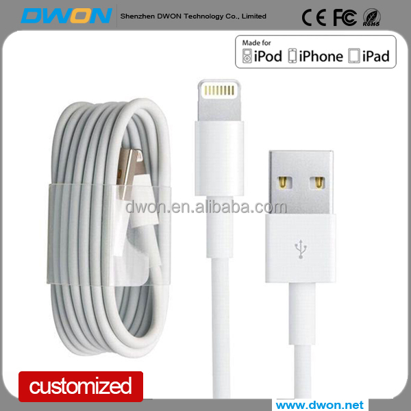 MFI approved 8pin lightnning to usb cable for Apple supplier EL flow cable