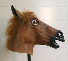 2013 Hot Selling Realistic Full Head Carnival Mask Celebrations Party Adult Cap horse fly mask