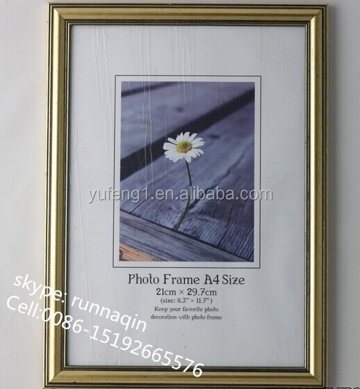 A4 Paper Size Hanging certificate Picture Frame Black A3 Custom Size PS Photo Frames Plastic Photo Frame