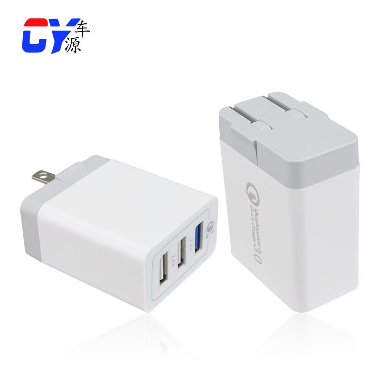 Fast Charging Speed QC3.0 Wall Charger Portable Phone Charger OEM Factory