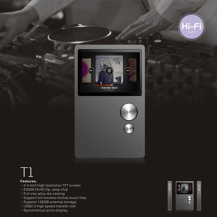 <strong>Original</strong> BENJIE metal case Hifi Lossless Music Player with built in 16GB mp3 music player