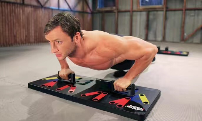 Combined Push Up, Chest Extend, Shoulder and Back Exercise