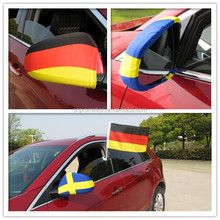 2014 high quality size 26*28cm cheaper Promotion Car National Flag/car flag/car mirror cover flag