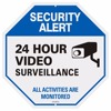 Aluminum Board Glow in Dark Reflective 24 Hour Video Surveillance Sign
