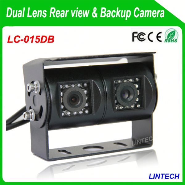 China supplier dual lens reverse camera parking guide for trucks
