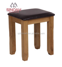 306 Rustic style solid American white oak dressing stool/bedroom furniture