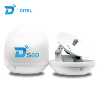 Ditel S60 ku band 60cm automatic satellite dish antenna with 23.62 inch reflector for Malaysia