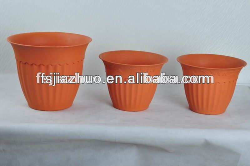 "6"" inch round pot,chinese plant pots, plastic flowers and flower base"