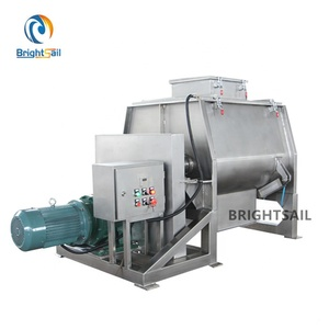 Industrial double shaft paddle mixer for feed mixing