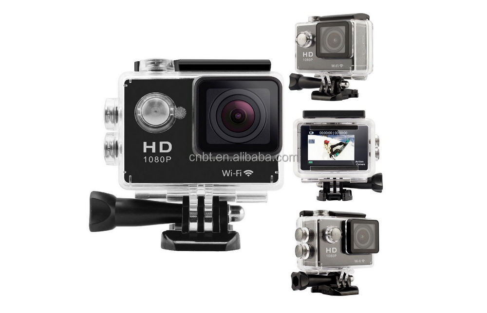 2017 Best Selling Products HD 4K Video 170 degrees Wide Angle Sport Dv WIFI Underwater 30M Action Camera