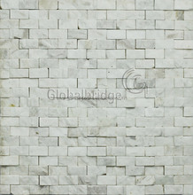 Pure white natural mosaic premium tile marble stone mosaic wall decoration