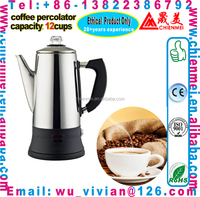 Stainless Steel Electric Coffee Retro vintage CM Chrome Stainless Steel Cordless Coffee filters/coffee pot/coffee machine 12 cup