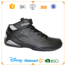 2018 OEM Fashion pure black high top breathable mens brand basketball shoes men