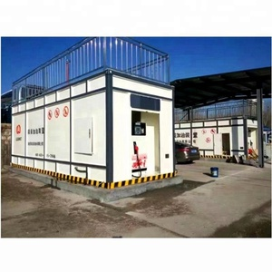 petrol mobile container oil storage tank fuel dispensing skid station