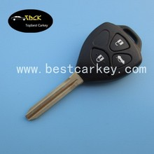 3 button new car remote key for Toyota corolla key with 4D67 chip and 315Mhz Original one