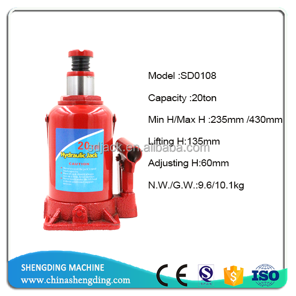 Professional discount 20ton hydraulic bottle jacks