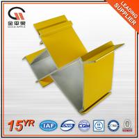 China windows curtain wall used alloy 6063 t5 aluminum profiles