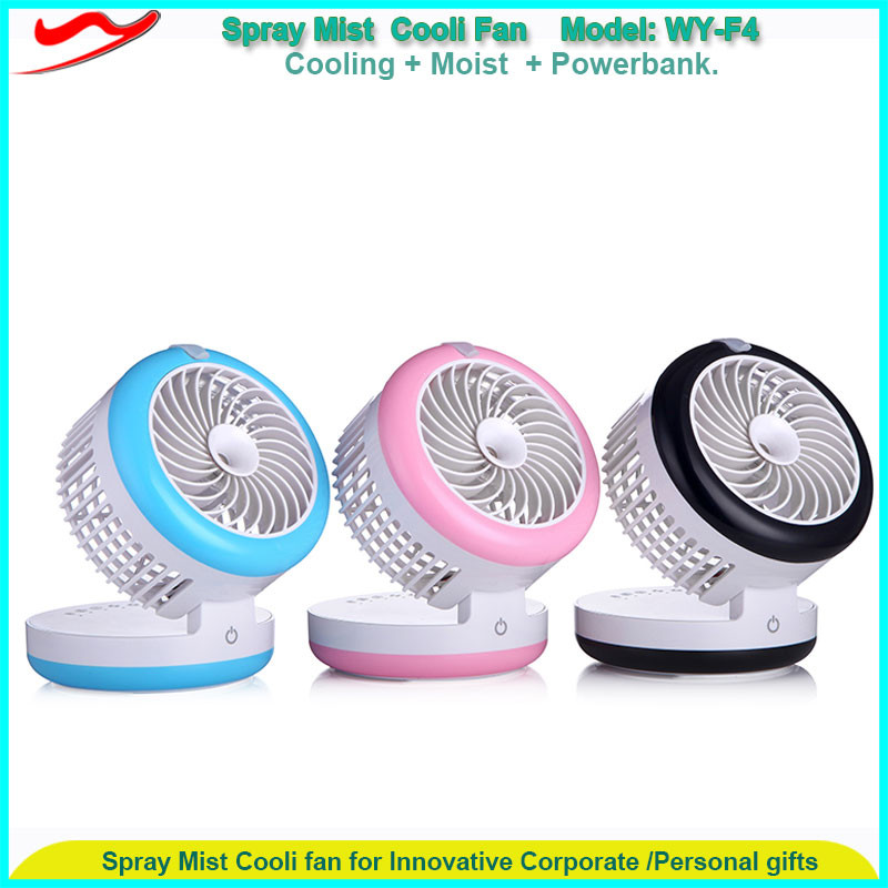 USB mini rechargeable air cooler / Beauty Spray Mist Cooli Fan