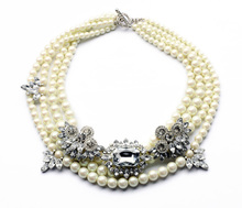 Factory Supplier Statement Bridal Short Choker Pearl Necklace