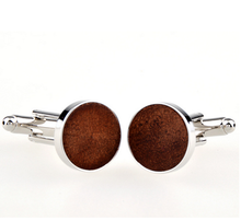 2017 high quality fashion design wooden cufflinks For Men