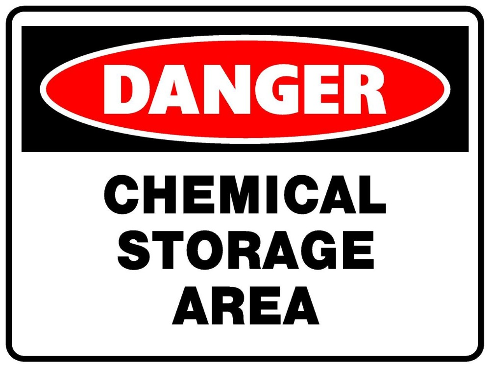Danger Chemical Storage Area danger warning signs