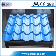 Galvanized Steel Corrugated Metal Sheet Roof Tile , Roofing Materials , PPGI Roofing Sheet