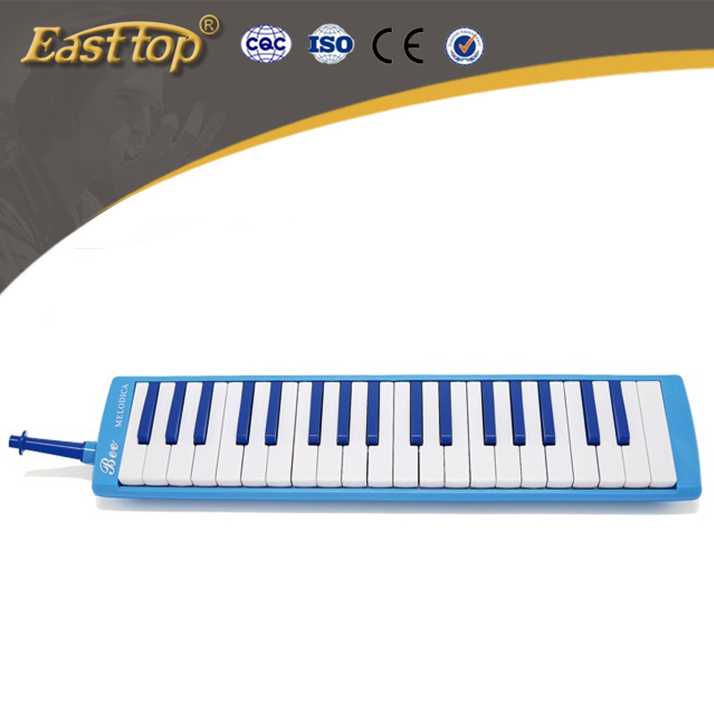colorful bee 37 key melodica for children use