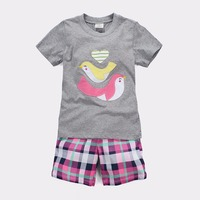 Summer Children Short Sleeve Clothes Sets