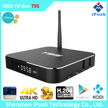 Amlogic S905 T95 best android stb 1G+8G digital stream smart tv box